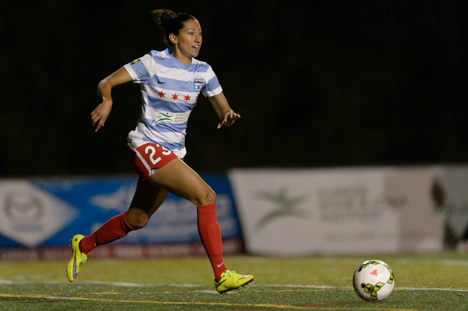 Christen Press has four goals in two matches for Chicago this season. (Photo: Chicago Red Stars/Daniel Bartel)