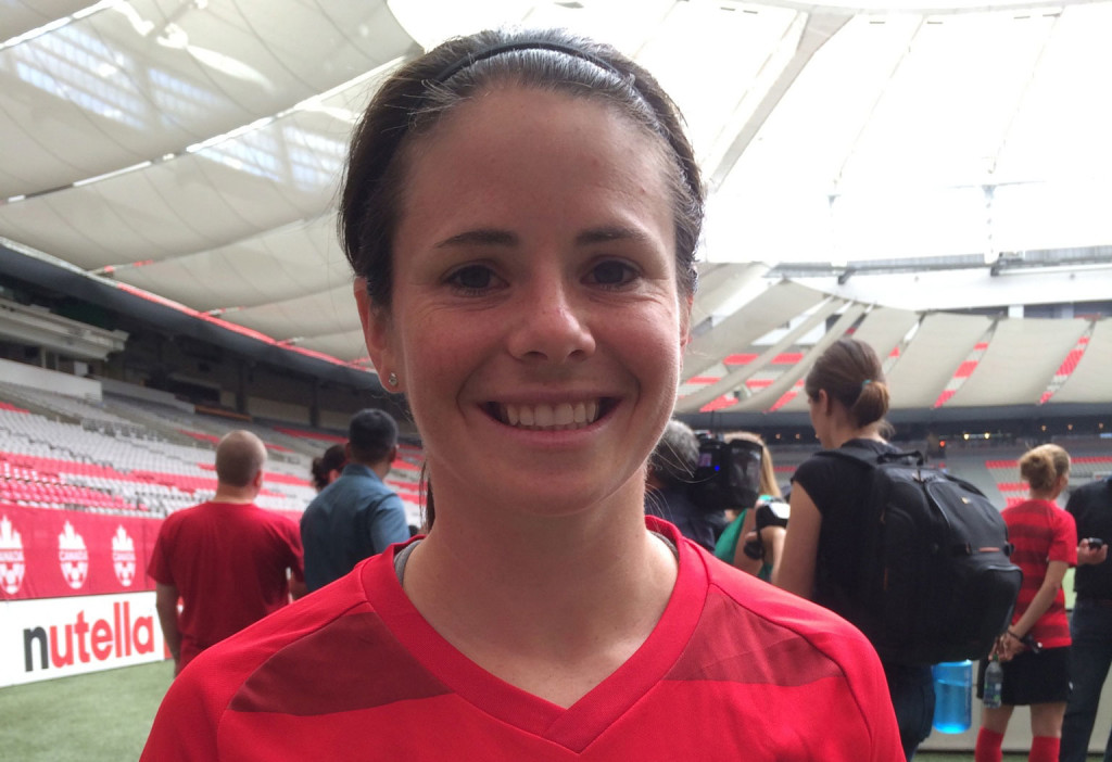 Diana Matheson is unlikely to be ready for the first match of the World Cup, but the hope is that she will participate in some way for Canada. (Photo Copyright Harjeet Johal for The Equalizer)