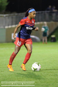 Crystal Dunn scored twice on Sunday in Washington's 3-1 win over Sky Blue FC. (Photo Copyright Erica McCaulley for The Equalizer)