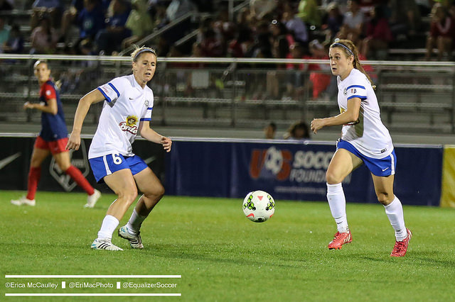 Heather O'Reilly (right) says FC Kansas City will be fine despite opening the season with two losses. (Photo Copyright Erica McCaulley for The Equalizer)