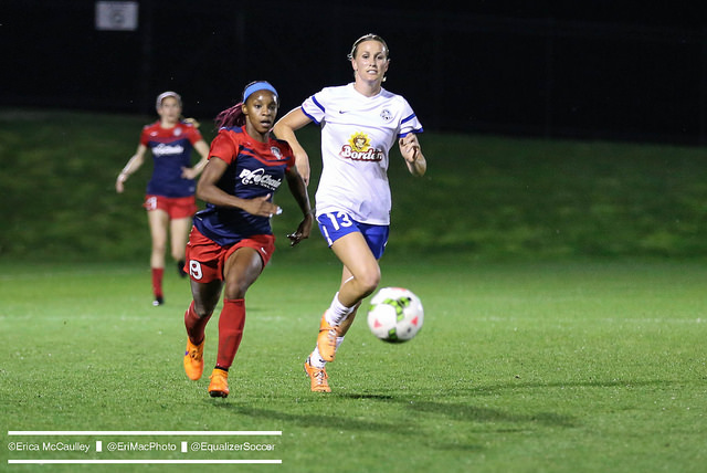 Left off the United States roster for the Women's World Cup, Crystal Dunn is focused on improving and staying healthy in the NWSL this year. (Photo Copyright Erica McCaulley for The Equalizer)