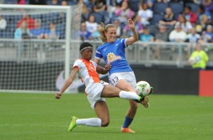 FC Kansas City switched to a three-back late against Sky Blue FC. (Photo Courtesy FC Kansas City)