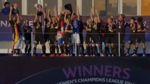 Frankfurt lifts the UWCL trophy for the fourth time after beating PSG, 2-1.