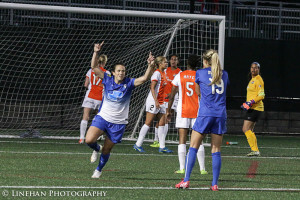Stephanie McCaffrey scored the equalizer for the Breakers against Sky Blue on Friday. (Photo Copyright Clark Linehan for The Equalizer)