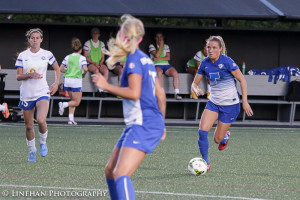 Kristie Mewis' burned her former team Saturday night in another Breakers' win. (Photo Copyright Clark Linehan for The Equalizer)