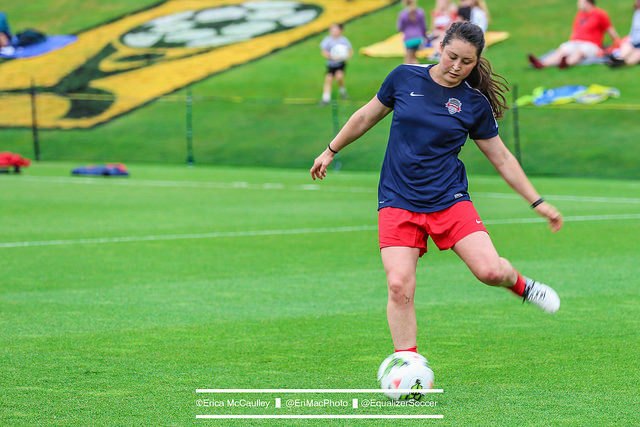 Jade Seabrook will spend her final free months with the Washington Spirit before serving her time with the Navy. She graduates on Friday. (Photo Copyright Erica McCaulley for The Equalizer)