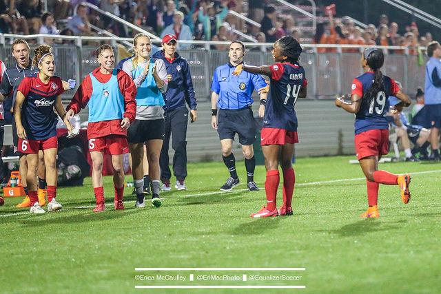 Francisca Ordega scored her first NWSL goal on Saturday. (Photo Copyright Erica McCaulley for The Equalizer)