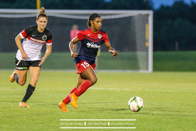 Crystal Dunn leads the NWSL with six goals this season. (Photo Copyright Erica McCaulley for The Equalizer)
