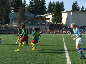 Cameroon in action on Sunday. (Photo Coypright Harjeet Johal for The Equalizer)