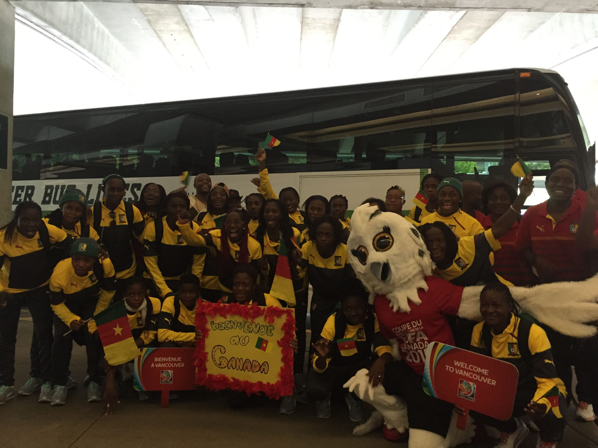 Cameroon is the first of 24 World Cup teams to arrive in Canada. (Photo Copyright Harjeet Johal for The Equalizer)