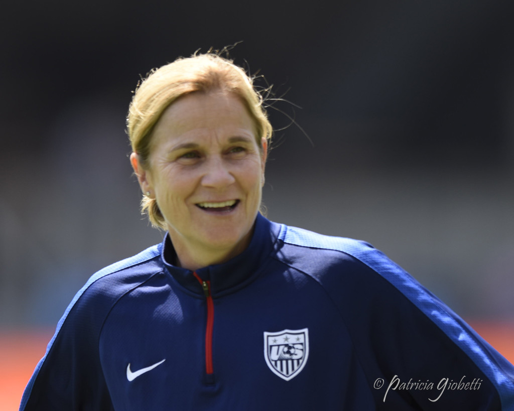 Jill Ellis is confident in her forwards. (Photo Copyright Patricia Giobetti for The Equalizer)