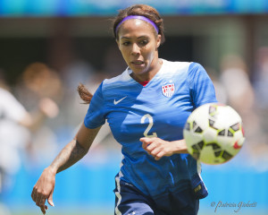 Sydney Leroux scored twice on Sunday for her first goals for the U.S. since Oct. 26, 2014. (Photo Copyright Patricia Giobetti for The Equalizer)