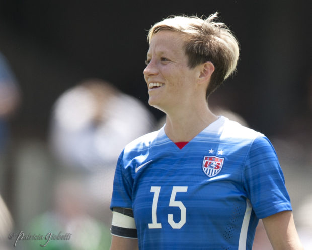 Megan Rapinoe announced Monday that she intends to abide by US Soccer's new national anthem policy. (Photo Copyright Patricia Giobetti for The Equalizer)