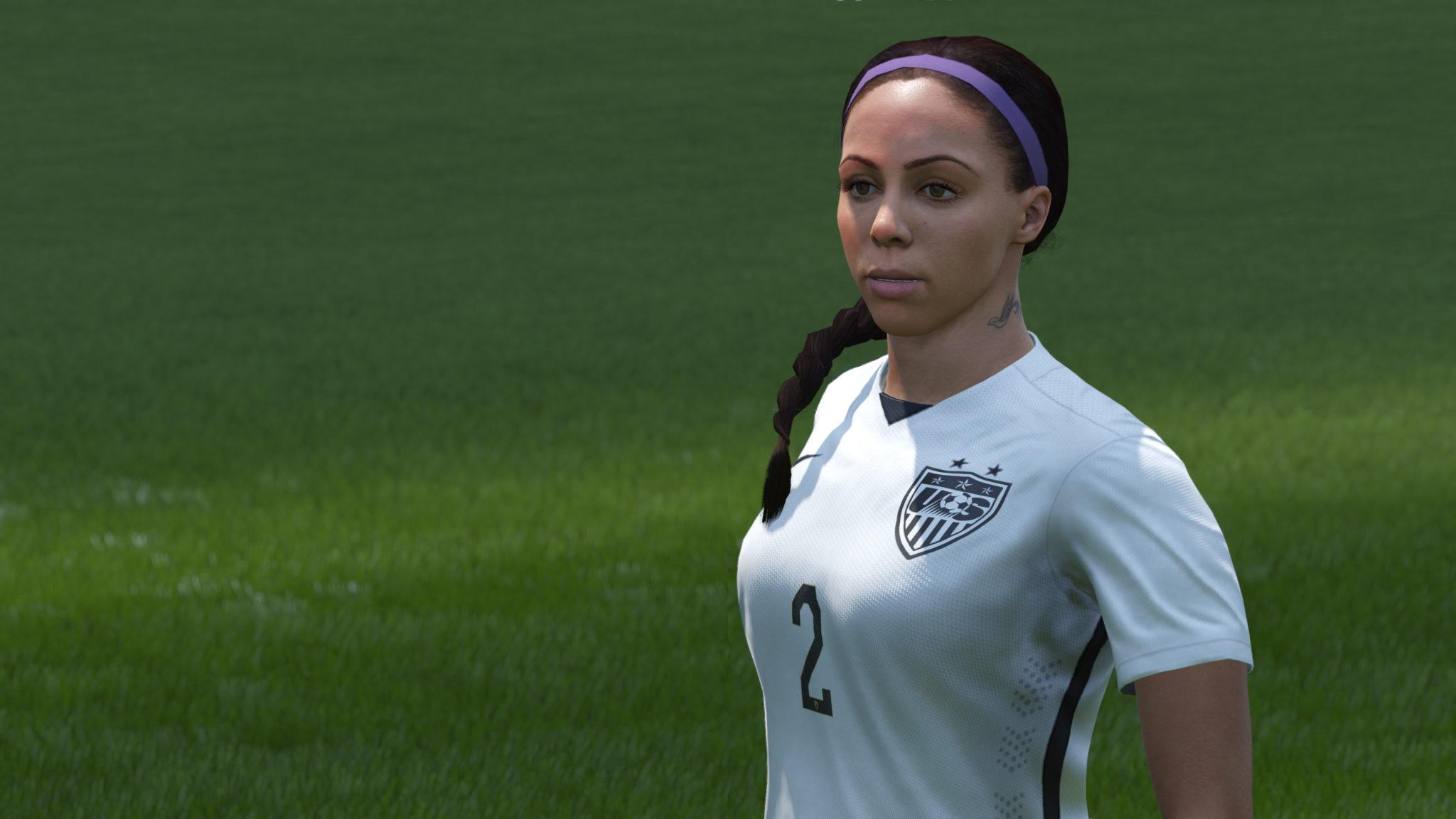Sydney Leroux in FIFA 16. (Photo Courtesy EA Sports)