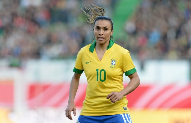 Marta warmed up for her Orlando stint by scoring two goals against Bolivia. (Getty Images)