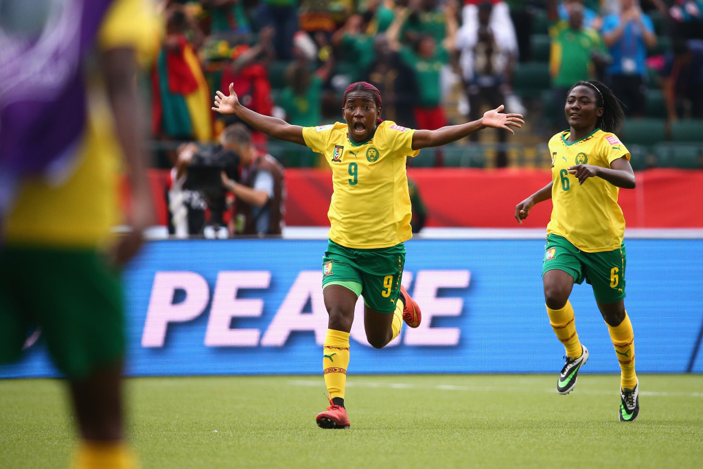 Cameroon had a lot to celebrate at the 2015 Women's World Cup. (Photo: FIFA/Getty Images)
