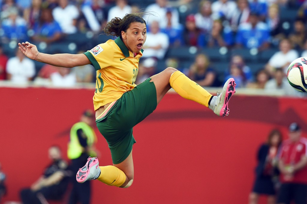 Sam Kerr has been great for Australia at this World Cup, which could be good news soon for Sky Blue FC. (Getty Images)
