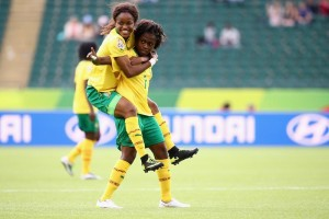 Cameroon had a lot to celebrate on Tuesday.  Their 2-1 win over Switzerland means their maiden World Cup will include a knockout match.  (Getty Images)