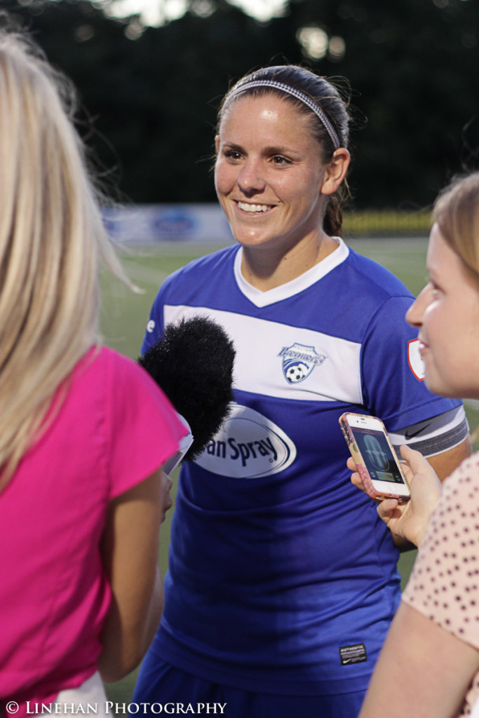 Cat Whitehill in 2012, during WPSL Elite. (Photo Copyright Clark Linehan for The Equalizer)