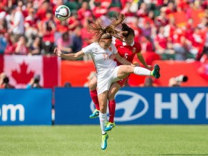Things were tight between China and Netherlands who were scoreless until China found a stoppage time winner.  (Getty Images)