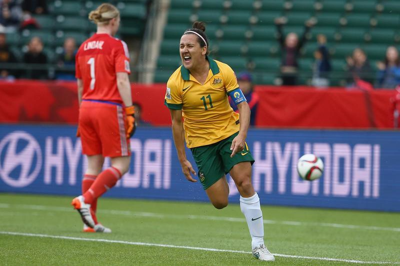 Lisa De Vanna has now scored more international goals than any Australian woman. (Getty Images)