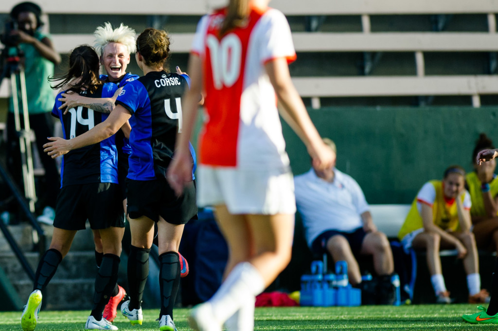 Jessica Fishlock returned from red card suspension and keyed the Reign win over Sky Blue FC. (Photo Courtesy Seattle Reign FC)