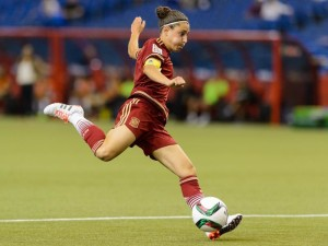 Vero Boquete and Spain settled for a 1-1 draw against Costa Rica Tuesday in the World Cup debut for all. (Getty Images)