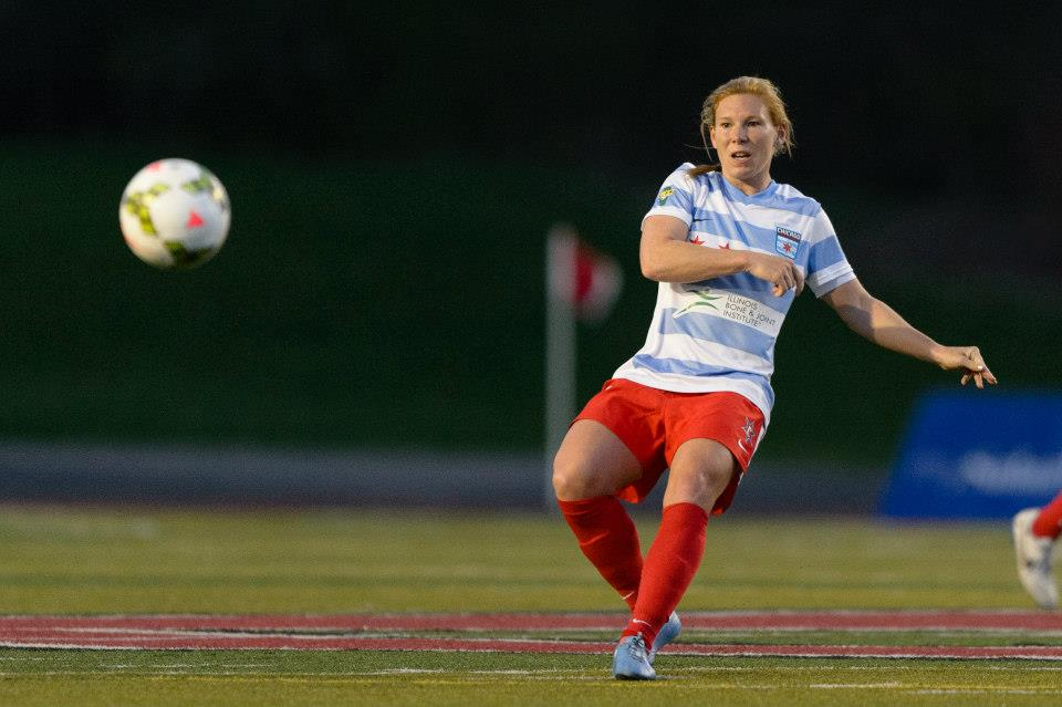 Lori Chalupny scored in her return to the Red Stars. (Photo Daniel Bartel/Chicago Red Stars)