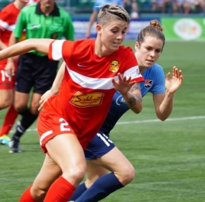 Michelle Heyman is adjusting to life with the Western New York Flash. (Photo Courtesy Mark Novak/WNY Flash)