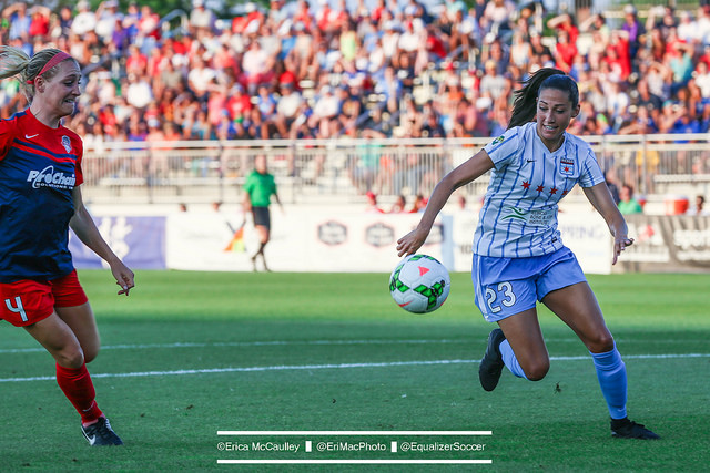 Christen Press has six goals in five games for Chicago. (Photo Copyright Erica McCaulley for The Equalizer)