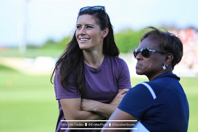 Ali Krieger before the Washington Spirit's match against Seattle Reign FC last week. (Photo Copyright Erica McCaulley for The Equalizer)