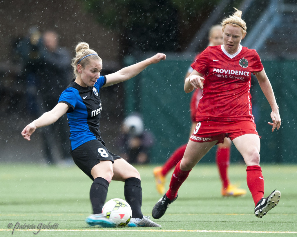 Kim Little and Seattle Reign FC are atop the NWSL again, while the Thorns keep on sliding. (Photo Copyright Patricia Giobetti for The Equalizer)