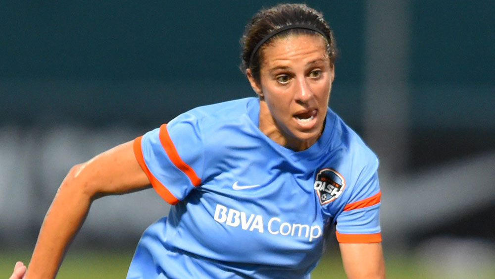Carli Lloyd has scored in seven straight matches in all competitions. (Getty Images)