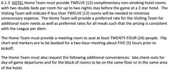 150818 NWSL rules regulations hotels