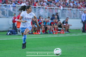 Christen Press scored a brace in Chicago's 2-1 preseason win over the Dash. (Photo Copyright Erica McCaulley for The Equalizer)