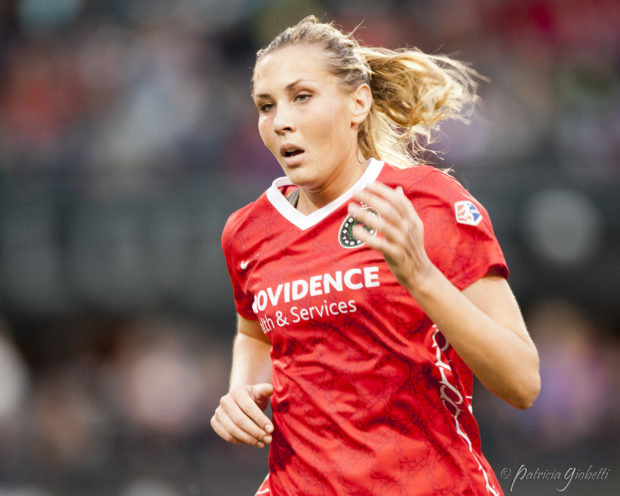 Allie Long was with the Thorns when they won the 2013 NWSL Championship. A draw or better on Sunday will add the 2016 Shield to their collection. (Photo Copyright Patricia Giobetti for The Equalizer)
