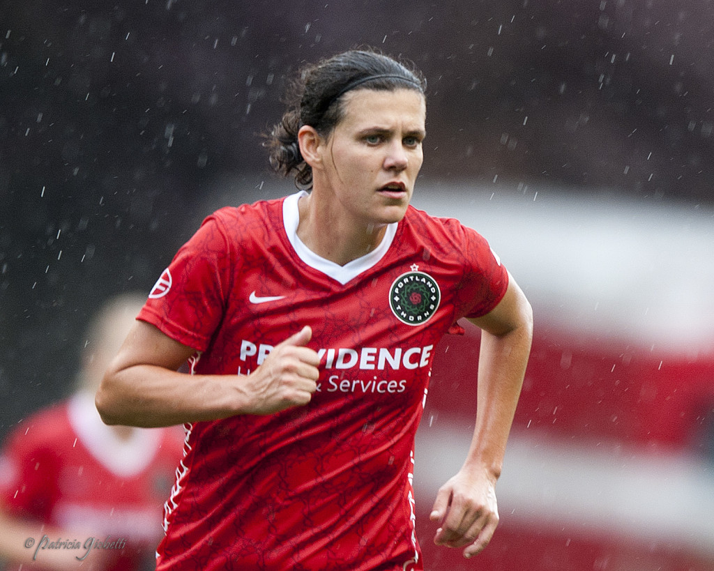 Christine Sinclair has a sprained left ankle and a left Achilles tendon strain. (Photo Copyright Patricia Giobetti for The Equalizer)