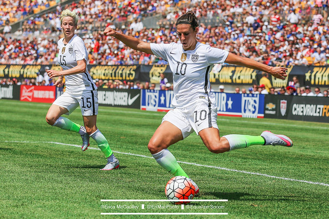 Carli Lloyd scored twice vs. Costa Rica. (Photo Copyright Erica McCaulley for The Equalizer)