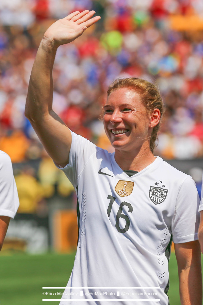 Lori Chalupny will retire after the United States women's national team's 10-game victory tour. (Photo Copyright Erica McCaulley for The Equalizer)