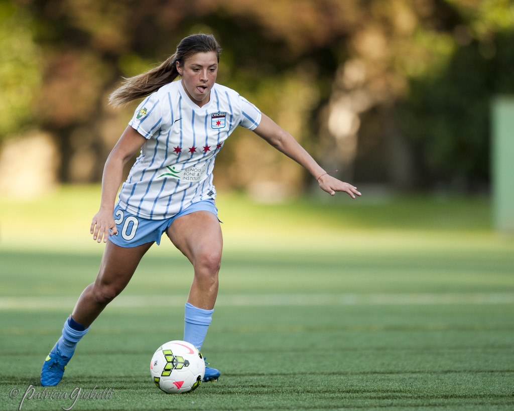 Sofia Huerta has been one of three rookies to make huge impacts on the Chicago Red Stars this NWSL season. (Photo Copyright Patricia Giobetti for The Equalizer)