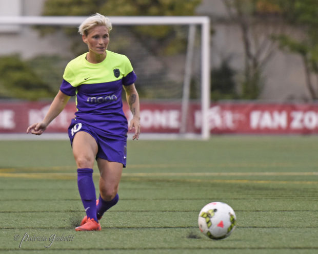 Jessica Fishlock becomes first player, male or female, to earn 100 caps for Wales. (Photo Copyright Patricia Giobetti for The Equalizer)