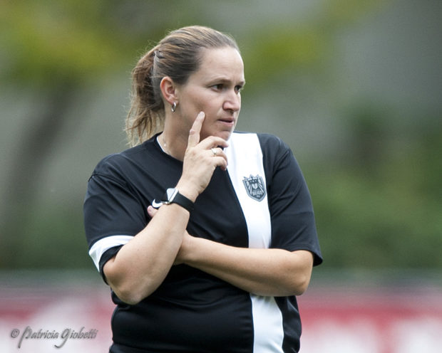 Laura Harvey stayed on as coach of Seattle Reign FC despite a second-from-bottom finish in 2013 and now has the club in a second straight NWSL Championship match. (Photo Copyright Patricia Giobetti for The Equalizer)