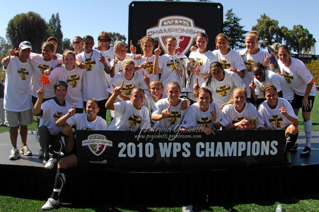 FC Gold Pride won the 2010 WPS Championship in dominant fashion. Six weeks later, the team folded. (Photo Copyright Patricia Giobetti for The Equalizer)