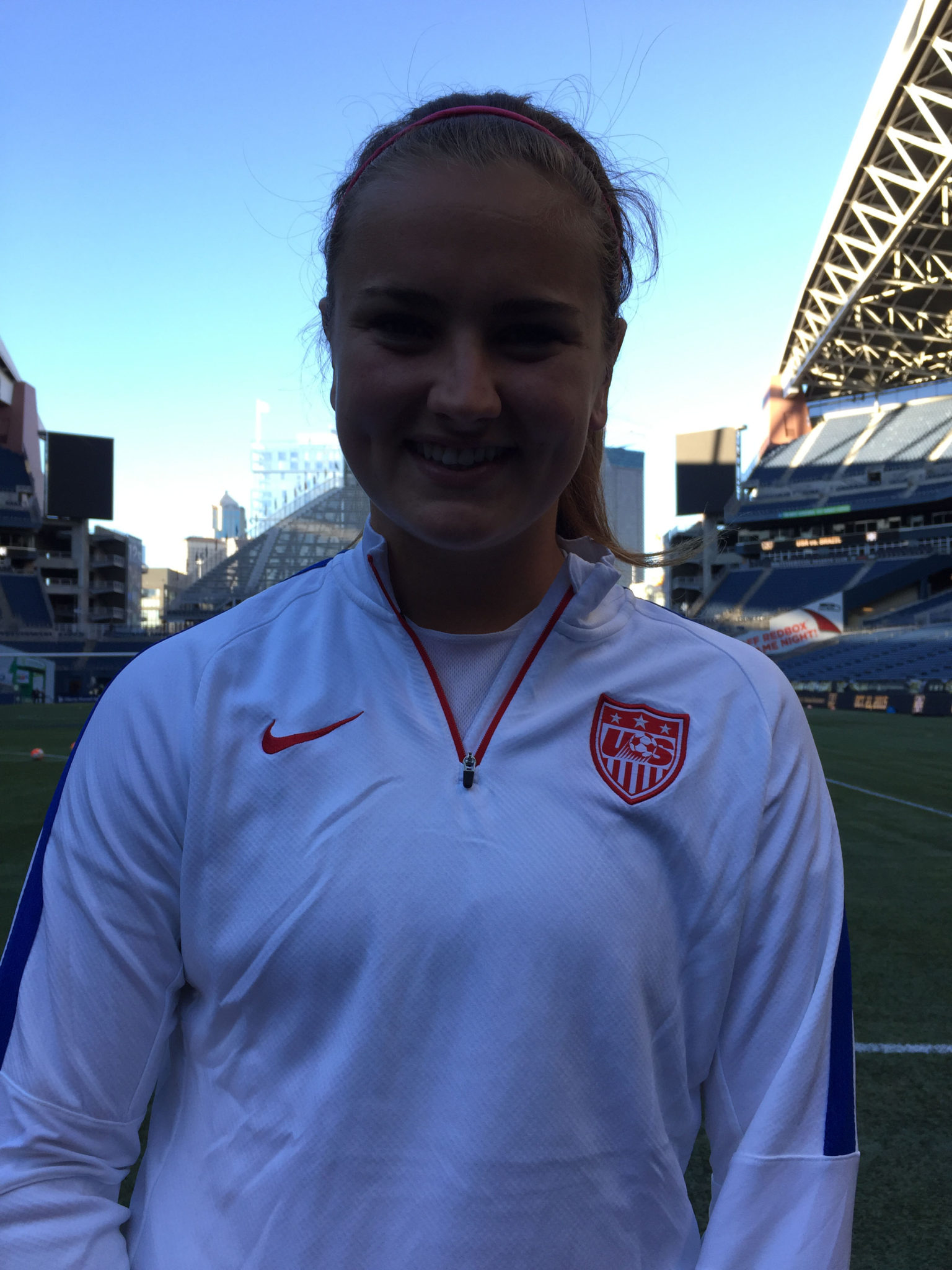 Lindsey Horan is back with the U.S. for the first time under Jill Ellis. (Photo Copyright Harjeet Johal for The Equalizer)