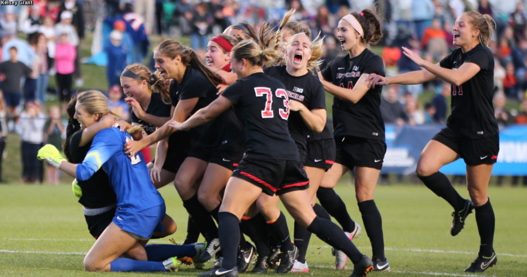 Rutgers stunned No. 1 Virginia to advance to the College Cup for the first time. (Photo: Rutgers Athletics)