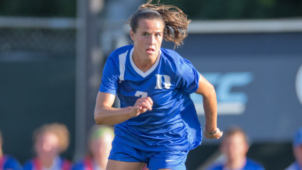 FreTshman Taylor Racioppi passed up the U-20 World Cup to stay the course with her academic career at Duke. (Photo: Duke Athletics)