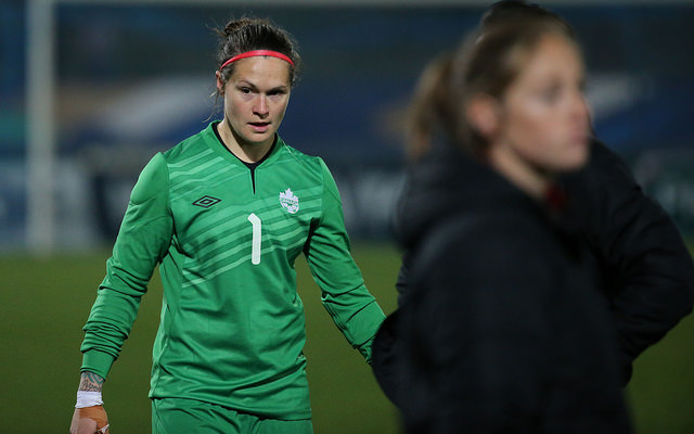 Canada goalkeeper Erin McLeod is looking forward to Olympic qualifying. (Photo: Canada Soccer)