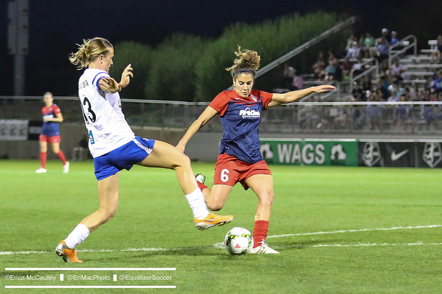 Angela Salem has been traded to the Boston Breakers. (Photo Copyright Erica McCaulley for The Equalizer)