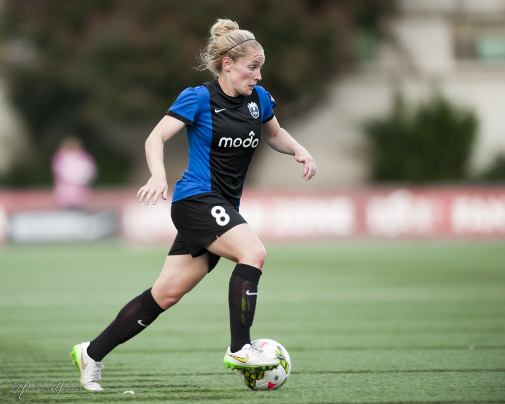 Kim Little is one of seven core players who has re-signed with Seattle Reign FC. (Photo Copyright Patricia Giobetti for The Equalizer)
