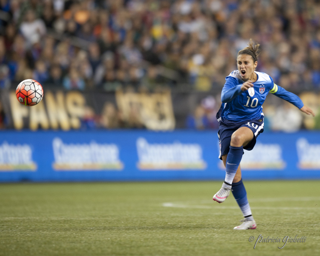 Carli Lloyd is a finalist and the favorite to win the FIFA Women's World Player of the Year Award. (Photo Copyright Patricia Giobetti for The Equalizer)